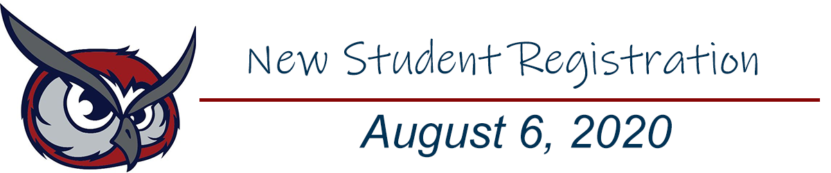 New student registration.  August 6, 2020.